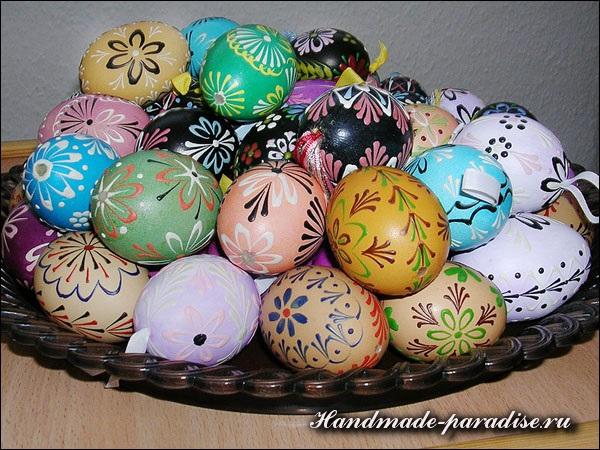 Роспись пасхальных яиц горячим воском - Сделай сам ...