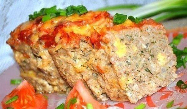 Мясной хлебец с сыром…