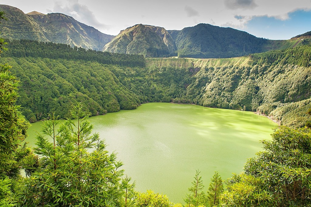 Lagoa de Santiago красота, озера, природа