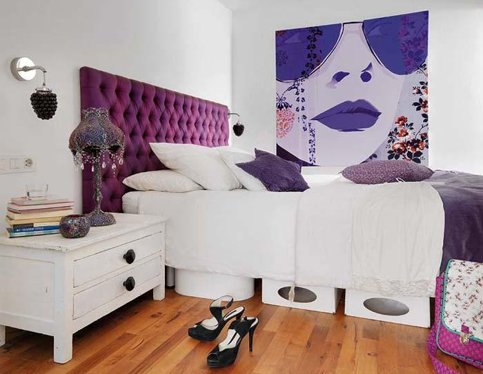 фиолетовый цвет в дизайне интерьера, фиолетовый дизайн, красивые интерьеры фото