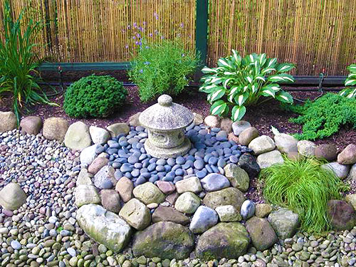 Сад с камнями своими руками