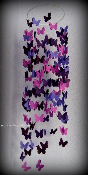 гирлянды из бабочек из бумаги своими руками