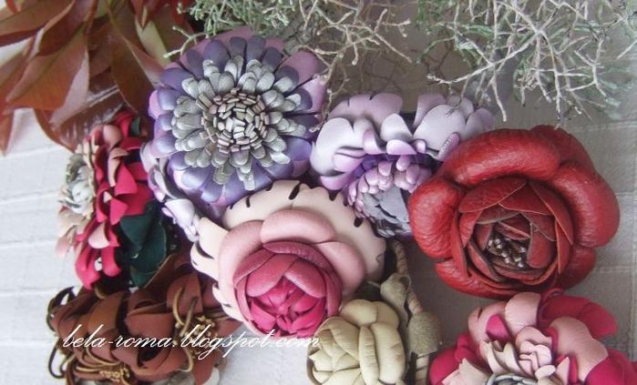 Цветы из кожи. ХРИЗАНТЕМЫ (11) (700x423, 234Kb)