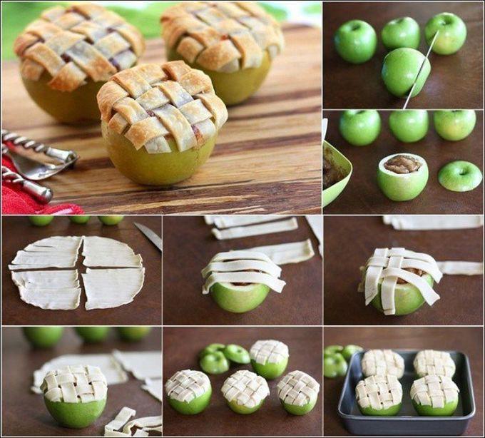 1. Запеченные яблоки еда, продукты, совет, хитрость