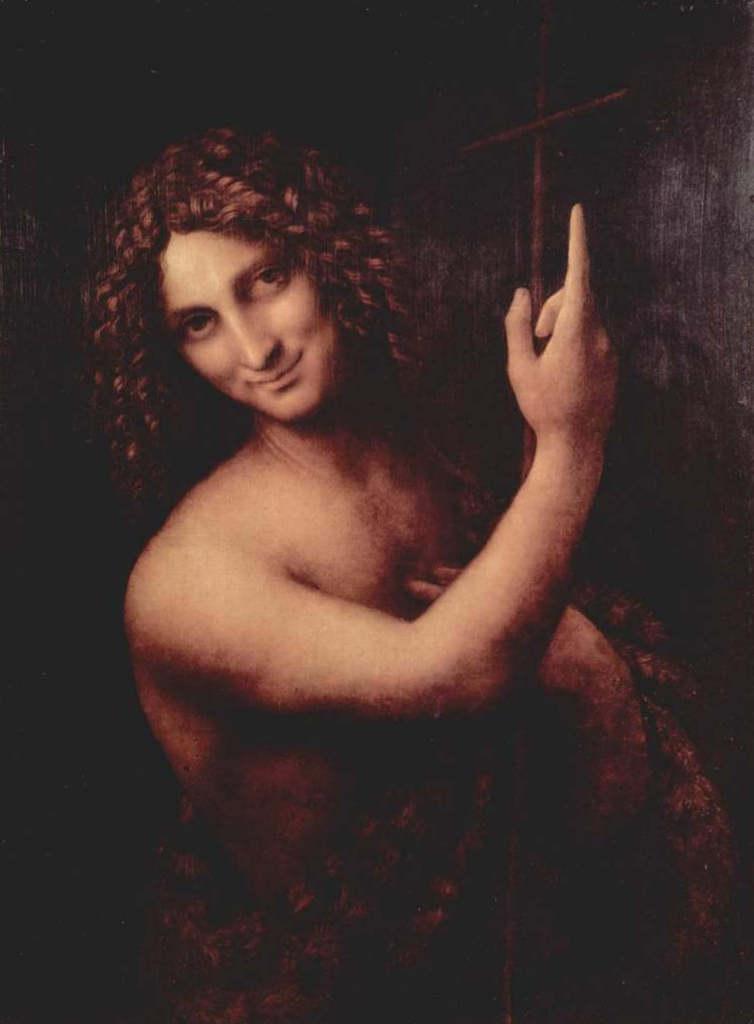 Святой Иоанн Креститель - Леонардо да Винчи (1515, Лувр, Париж)