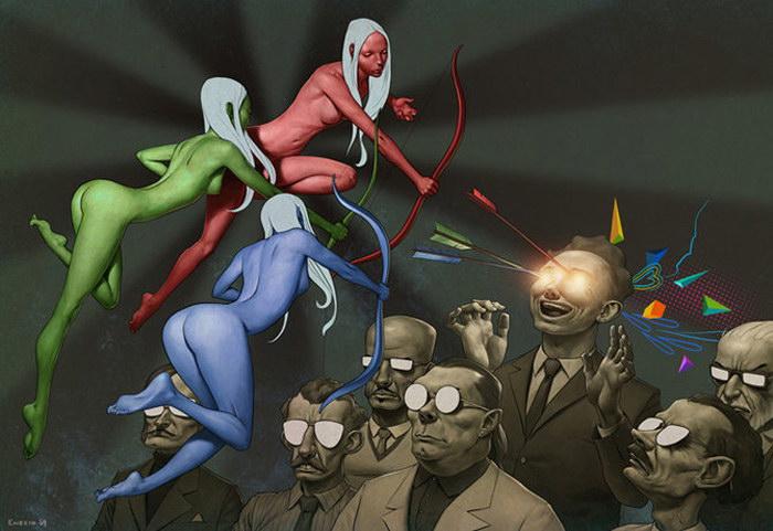 Jeremy Enecio и его жуткие полотна