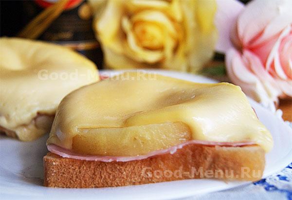 Бутерброды с ананасом - рецепт