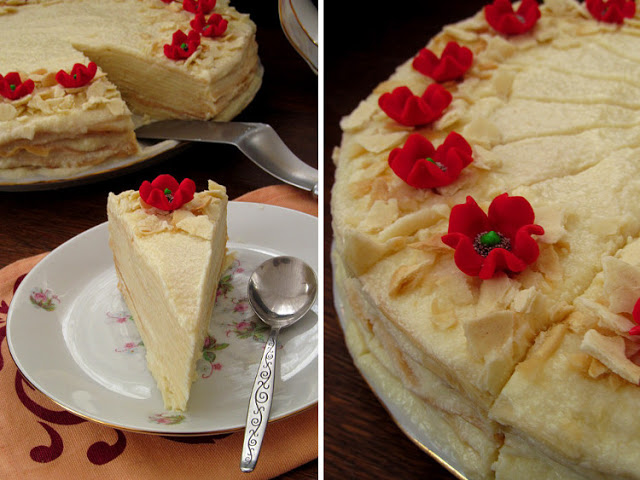 """Неимоверно вкусный торт """"Наполеон"""" с пломбиром!"""
