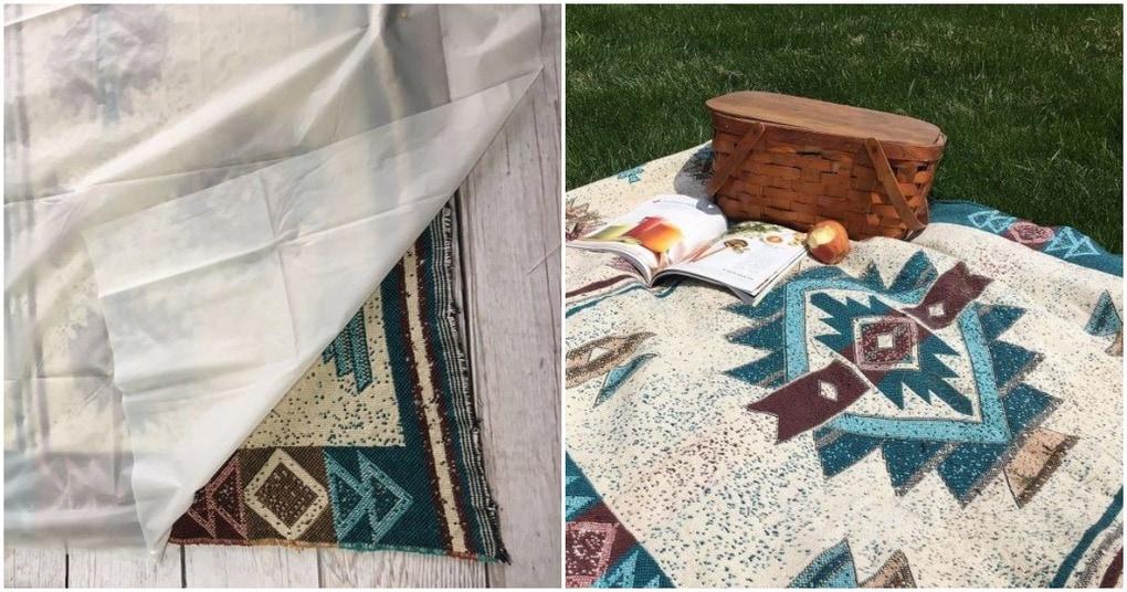 Простое в исполнении водонепроницаемое одеяло для пикника