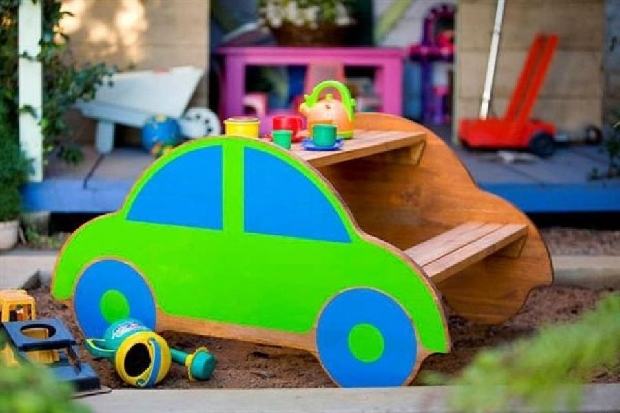 Идеи для детской площадки: детский паровозик