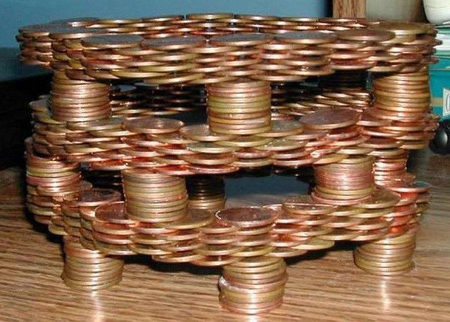 Необычные творения из самых обычных монет.