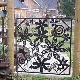 красивая садовая калиткам фото