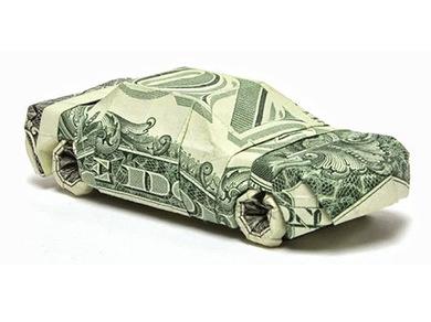 Как сделать машину из денег в подарок
