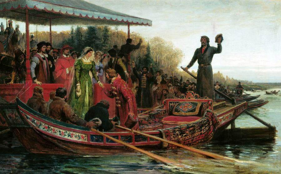 Встреча царевны Софьи на Чудском озере, Федор Бронников.