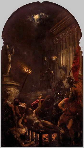 Тициан. Мученичество святого Лаврентия