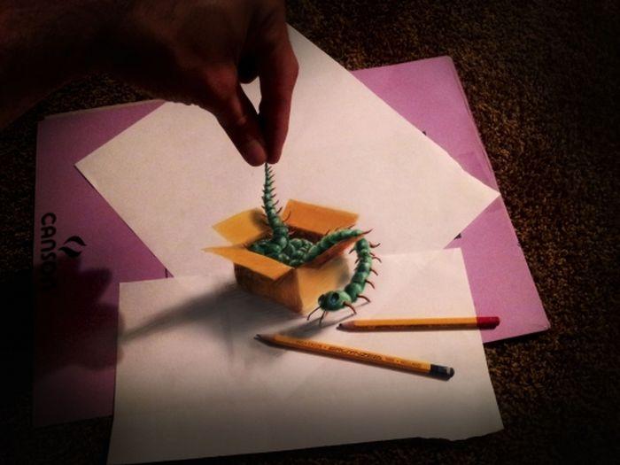 Как сделать объёмную картинку на бумаге
