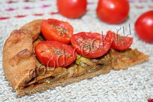 полуржаной пирог с овощами