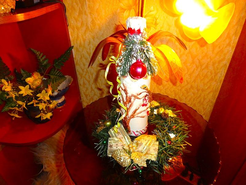 Новогодняя бутылка «Змейка». Morskay10
