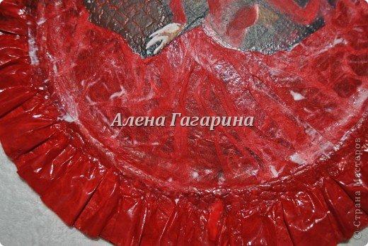 Декор предметов Мастер-класс Декупаж Тарелка Фламенко Бумага фото 20