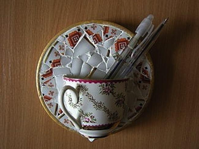 Панно на стену из посуды