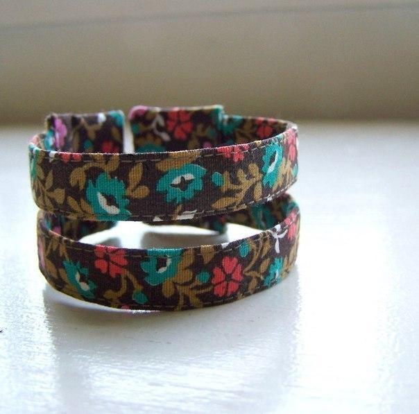 Текстильные браслеты. Идеи