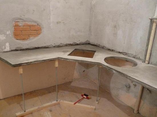 Столешницу из бетона своими руками