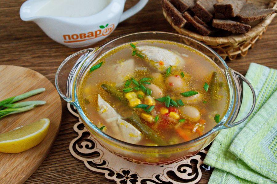 Суп с курицей и овощами