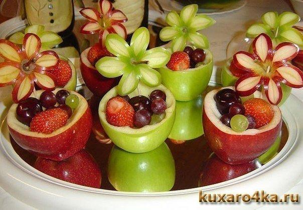 Фруктовые корзиночки из яблок