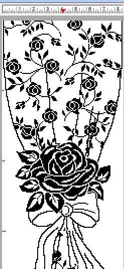 Шикарная филейная штора. Схема