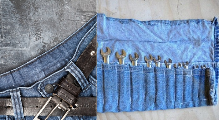 переделка джинсов в юбку