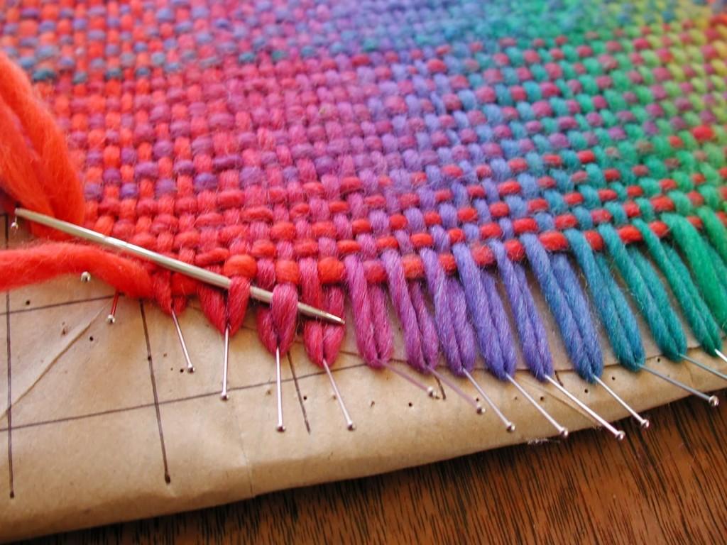 Совмещение ткачества и вязания. Оригинальные работы + МК