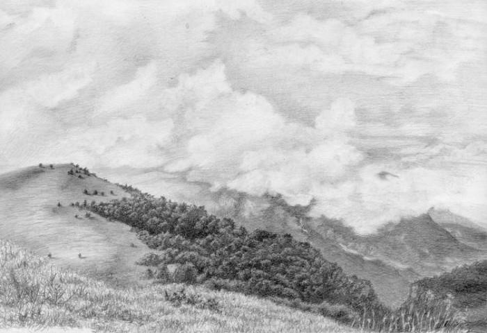 рисунки карандашом пейзажи - 13