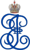 Imperial Monogram of Empress Catherine II of Russia.svg