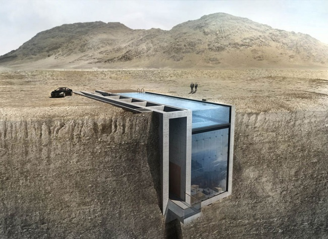 Из этого дома в скале открывается такой вид на море, что мурашки по спине бегут