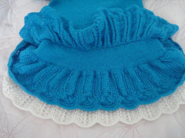 Вязание спицами юбки с рюшами