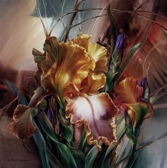 Цветы в работах художницы Vie Dunn-Harr