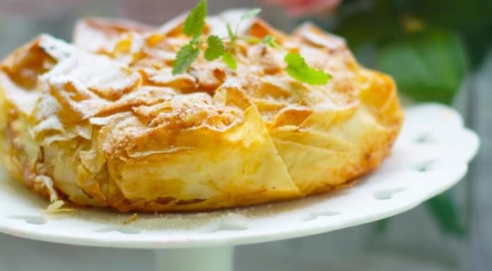 Яблочный пирог «Вуаль невесты»