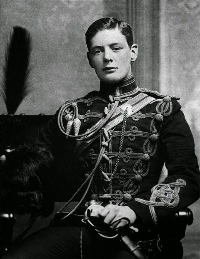 18 Редкое фото молодого Уинстона Черчиля 1895 г война история память