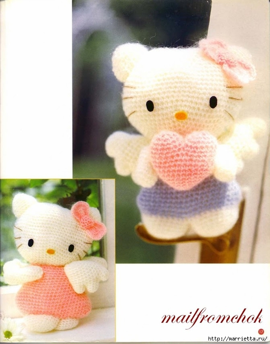 Hello Kitty! Вяжем японскую кошечку. Отличный журнал со схемами (15) (549x700, 213Kb)