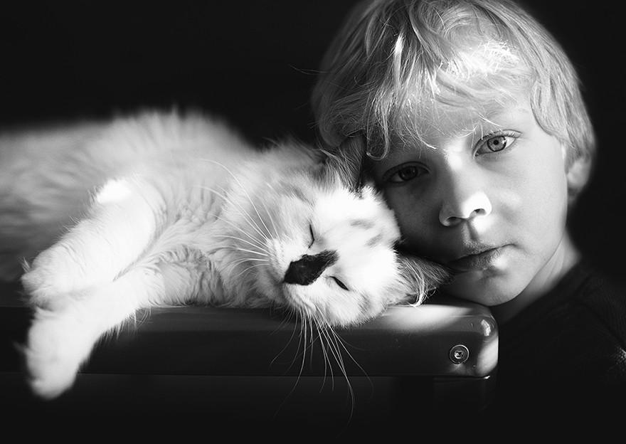 Мальчики и их кошки: фотографии от мамы троих сыновей