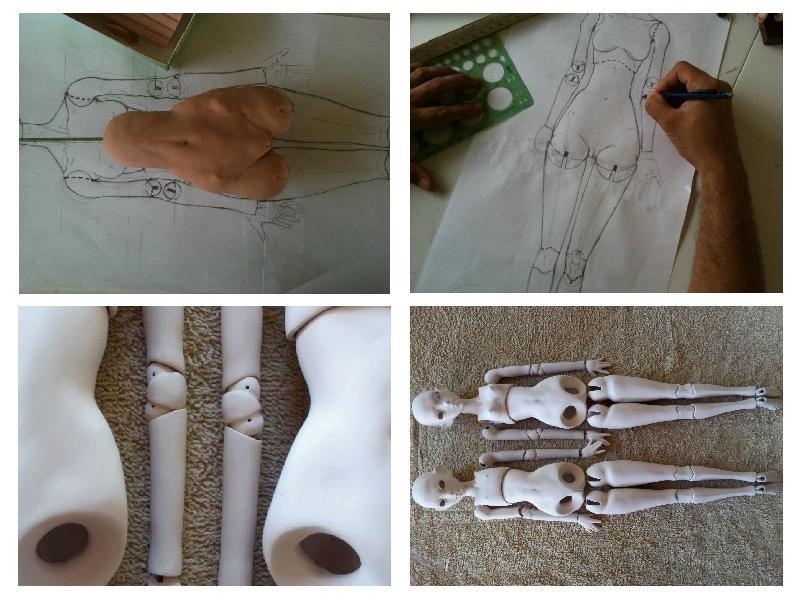 Как сделать фарфоровой кукле руки 899