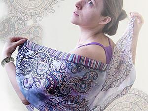 Мастер-класс: роспись шёлкового шарфа «Восточные грёзы» | Ярмарка Мастеров - ручная работа, handmade