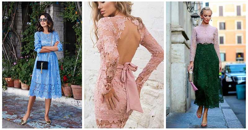 Обаятельные платья из кружева: 17 фото примеров для нежного образа