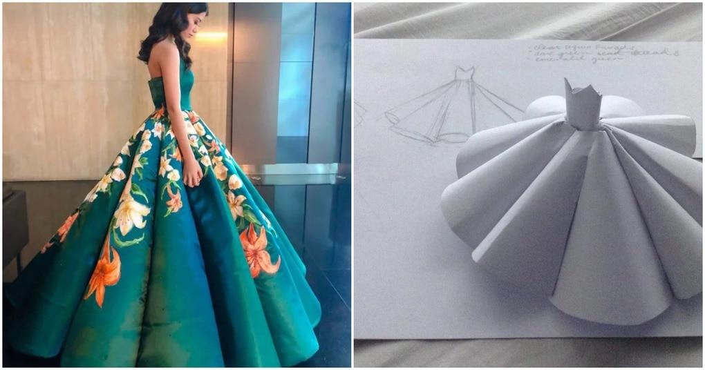 Школьница сшила платье на выпускной, которое стало популярным