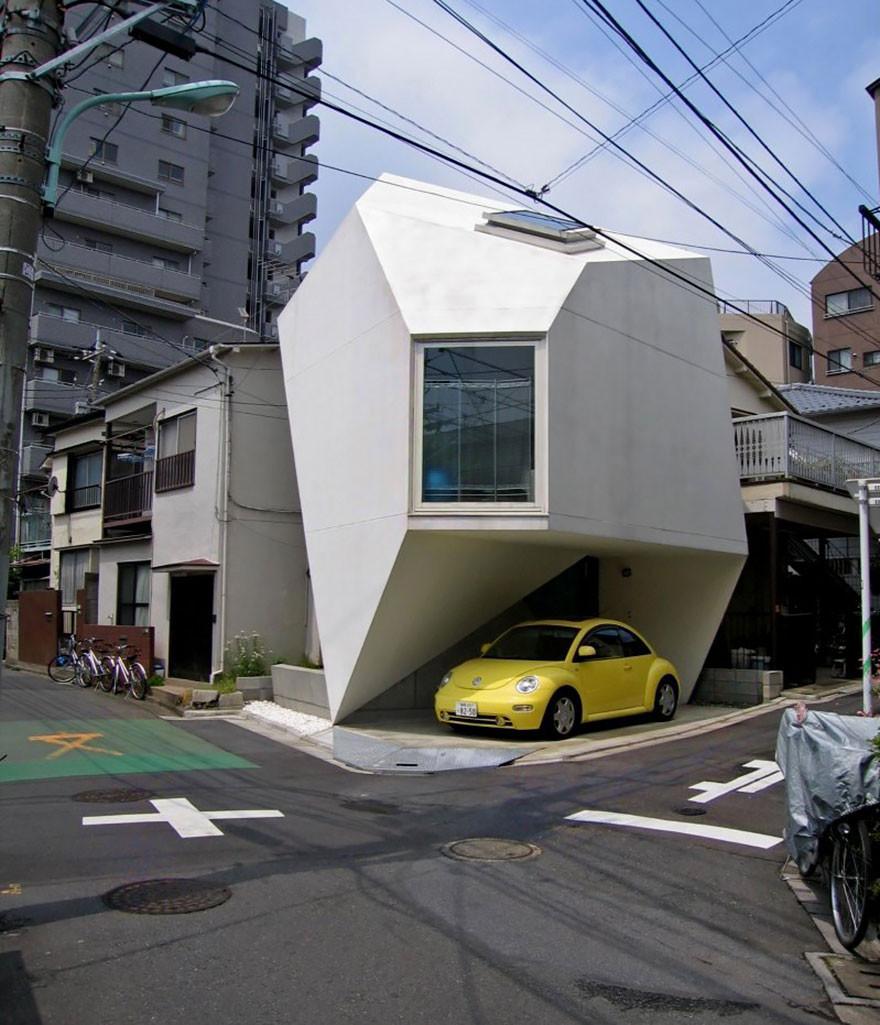 2. Дом в форме природного минерала в Токио вместительность, дом, размер
