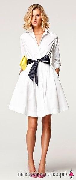 Выкройка элегантного платья-рубашки