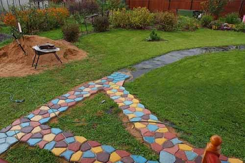 цветная тротуарная плитка своими руками