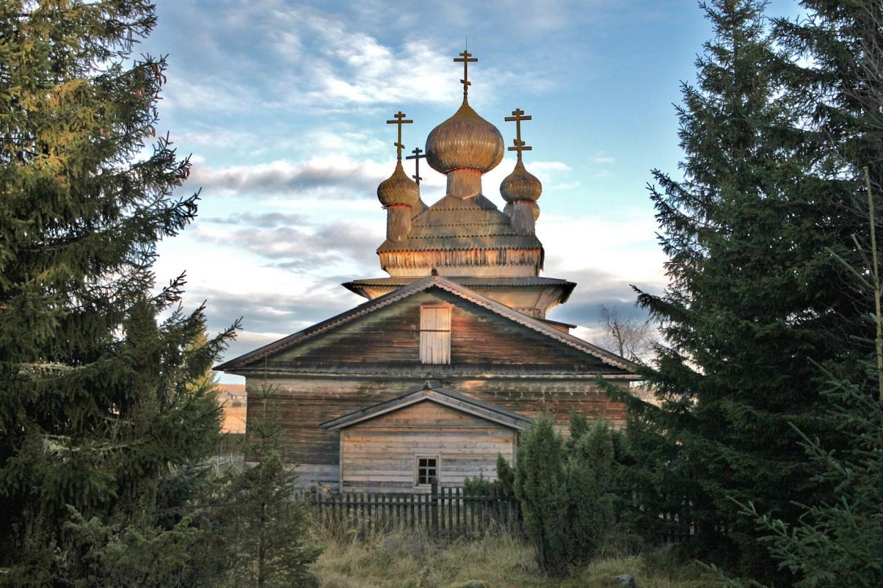 Церковь в деревне Вирма. карелия, природа, россия