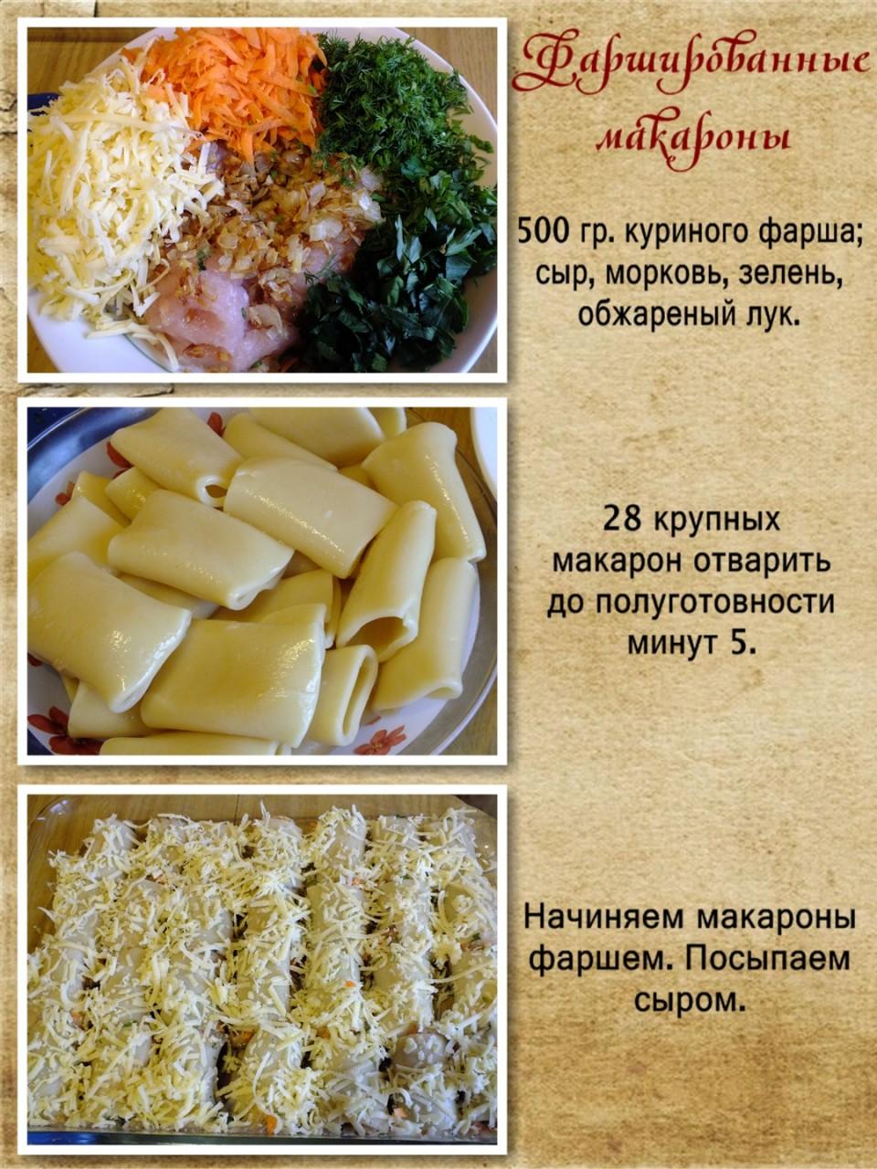 Второе блюдо из макарон рецепты