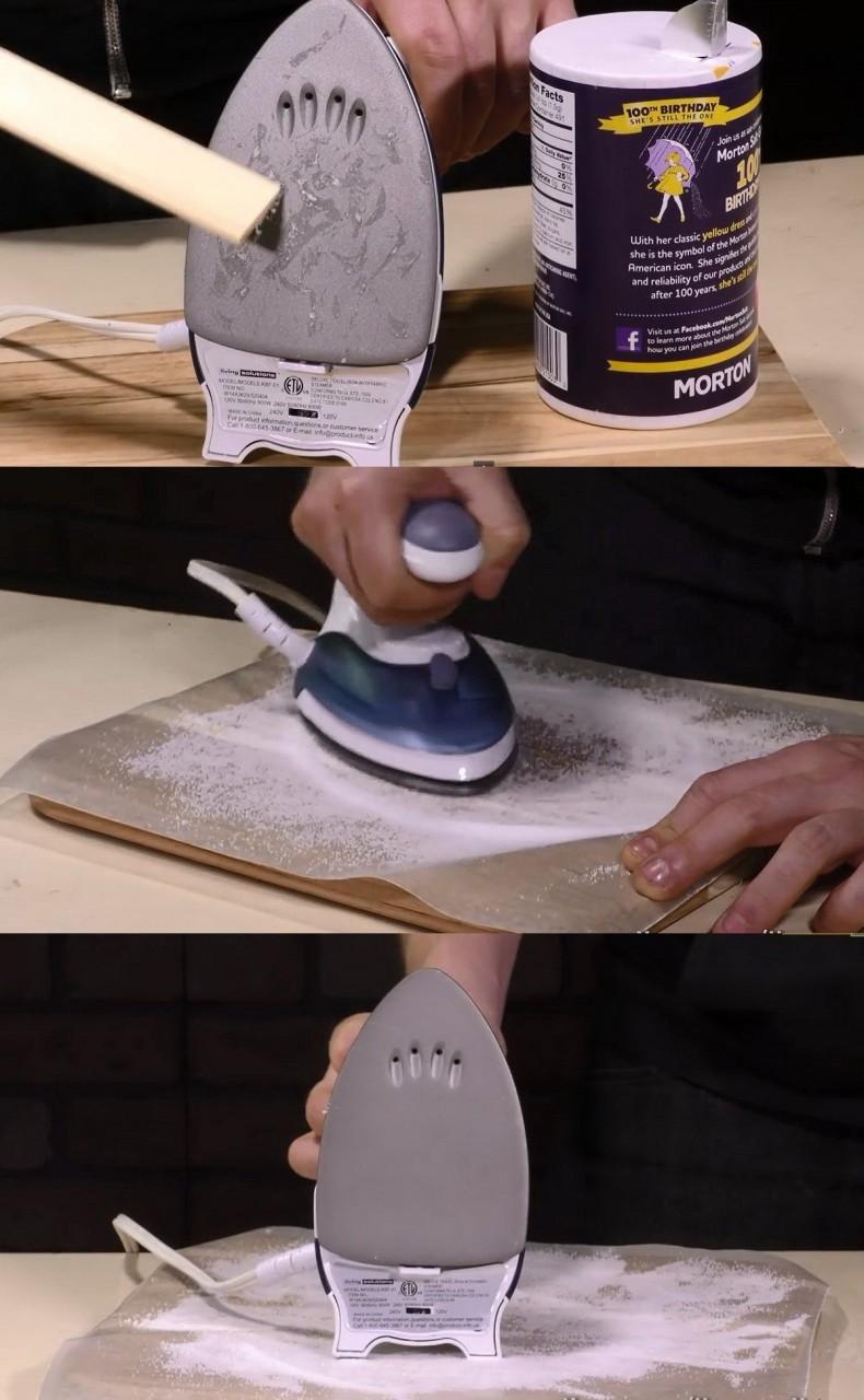 1. Шлифовка «подошвы» утюга быт, соль